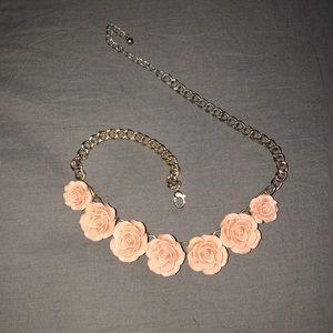 🦋Pink rose necklace